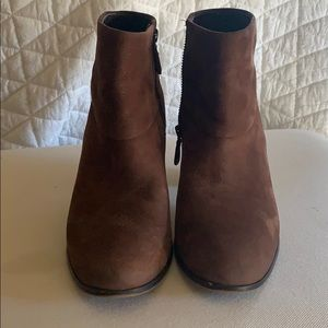 Cole Haan brown suede booties